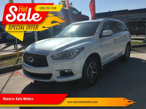 2016 Infiniti QX60 for sale at Navarro Auto Motors in Hialeah FL