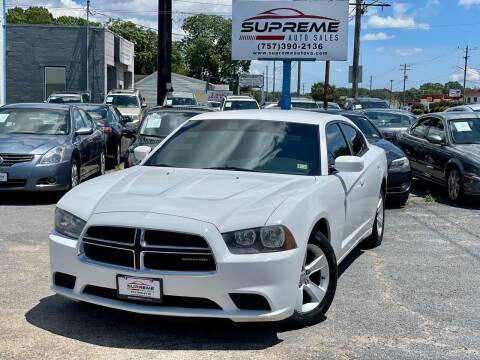 2011 Dodge Charger for sale at Supreme Auto Sales in Chesapeake VA