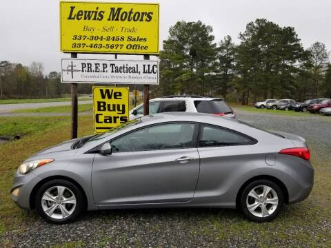 2013 Hyundai Elantra Coupe for sale at Lewis Motors LLC in Deridder LA