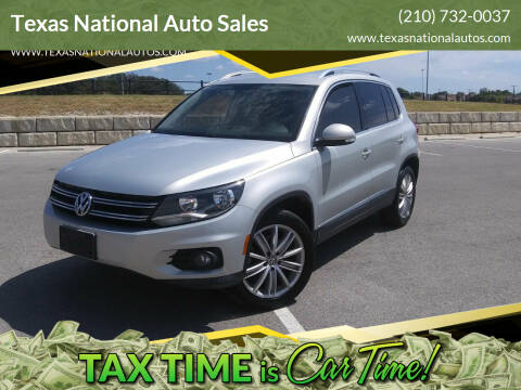 2012 Volkswagen Tiguan for sale at Texas National Auto Sales in San Antonio TX