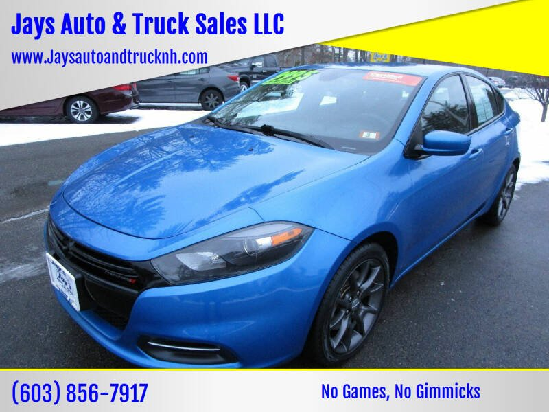 2016 Dodge Dart for sale at Jays Auto & Truck Sales LLC in Loudon NH