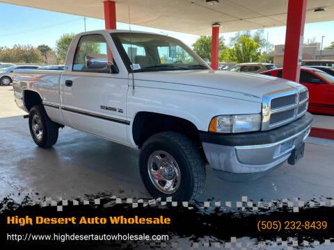 1994 Dodge Ram Pickup 1500 for sale at High Desert Auto Wholesale in Albuquerque NM