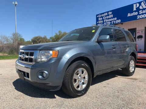 2012 Ford Escape for sale at P & A AUTO SALES in Houston TX