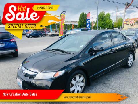 2010 Honda Civic for sale at New Creation Auto Sales in Everett WA