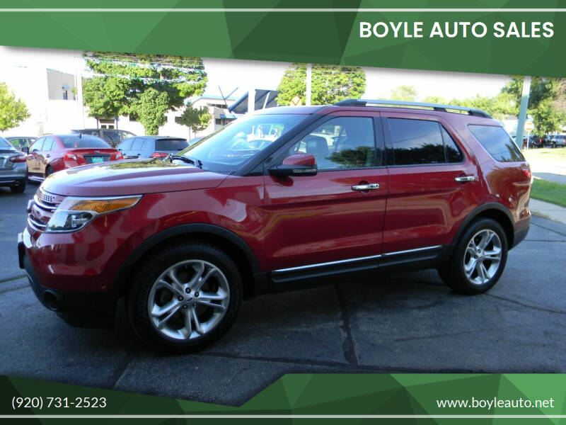 2012 Ford Explorer for sale at Boyle Auto Sales in Appleton WI