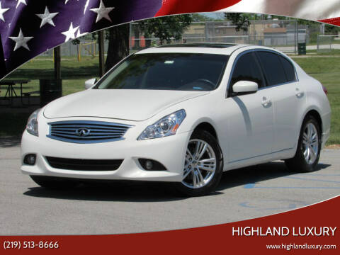 2013 Infiniti G37 Sedan for sale at Highland Luxury in Highland IN