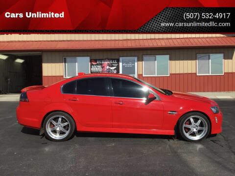 2009 Pontiac G8 for sale at Cars Unlimited in Marshall MN