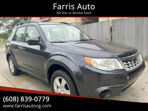 2012 Subaru Forester for sale at Farris Auto - Main Street in Stoughton WI