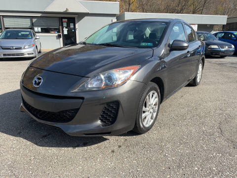 2012 Mazda MAZDA3 for sale at B & P Motors LTD in Glenshaw PA