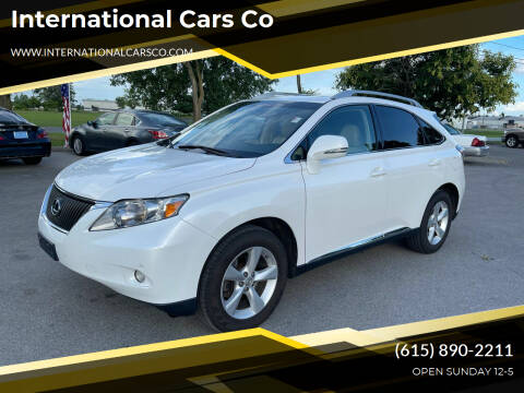 2012 Lexus RX 350 for sale at International Cars Co in Murfreesboro TN