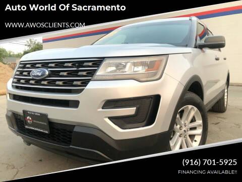 2016 Ford Explorer for sale at Auto World of Sacramento Stockton Blvd in Sacramento CA