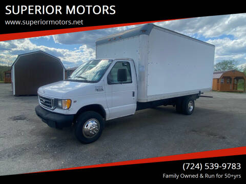 2002 Ford E-Series Chassis for sale at SUPERIOR MOTORS in Latrobe PA