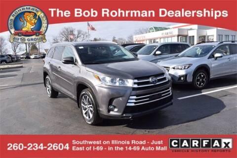 2019 Toyota Highlander Hybrid for sale at BOB ROHRMAN FORT WAYNE TOYOTA in Fort Wayne IN