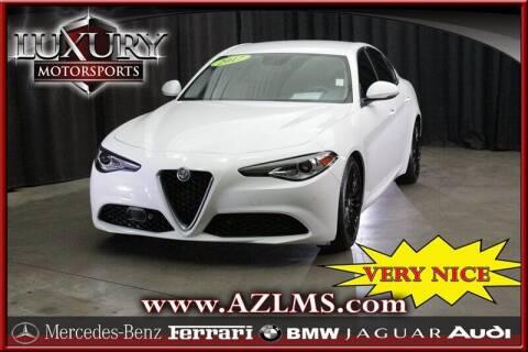 2017 Alfa Romeo Giulia for sale at Luxury Motorsports in Phoenix AZ