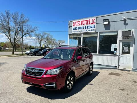 2018 Subaru Forester for sale at United Motors LLC in Saint Francis WI