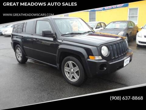 2008 Jeep Patriot for sale at GREAT MEADOWS AUTO SALES in Great Meadows NJ
