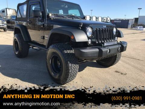 2015 Jeep Wrangler for sale at ANYTHING IN MOTION INC in Bolingbrook IL