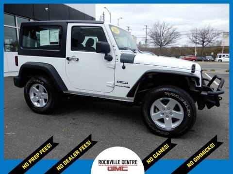 2018 Jeep Wrangler JK for sale at Rockville Centre GMC in Rockville Centre NY