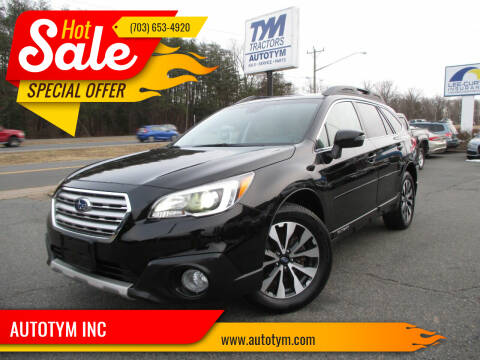 2017 Subaru Outback for sale at AUTOTYM INC in Fredericksburg VA