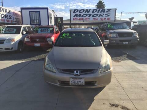 2004 Honda Accord for sale at DON DIAZ MOTORS in San Diego CA