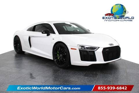 2018 Audi R8 for sale at Exotic World Motor Cars in Addison TX
