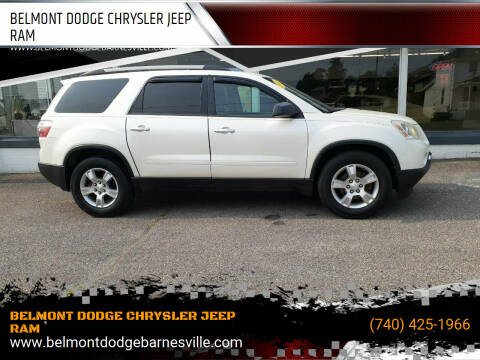 2011 GMC Acadia for sale at BELMONT DODGE CHRYSLER JEEP RAM in Barnesville OH