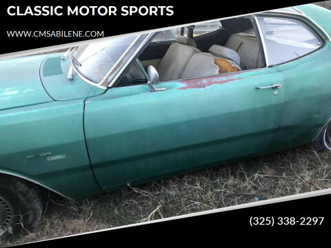 1974 Dodge Dart for sale at CLASSIC MOTOR SPORTS in Winters TX