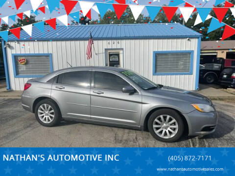 2013 Chrysler 200 for sale at NATHAN'S AUTOMOTIVE INC in Noble OK