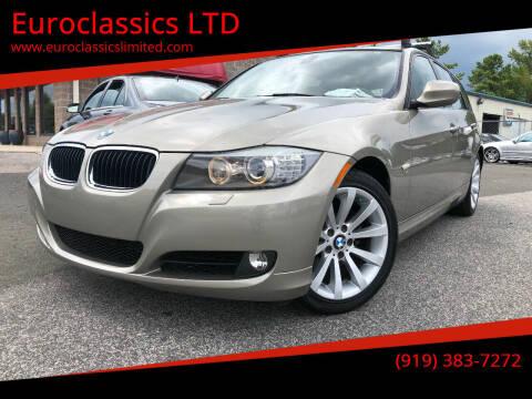 2011 BMW 3 Series for sale at Euroclassics LTD in Durham NC