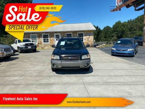 2004 Subaru Forester for sale at Flywheel Auto Sales Inc in Woodstock GA