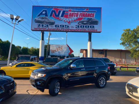 2015 Jeep Grand Cherokee for sale at ANF AUTO FINANCE in Houston TX