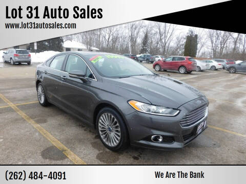 2016 Ford Fusion for sale at Lot 31 Auto Sales in Kenosha WI