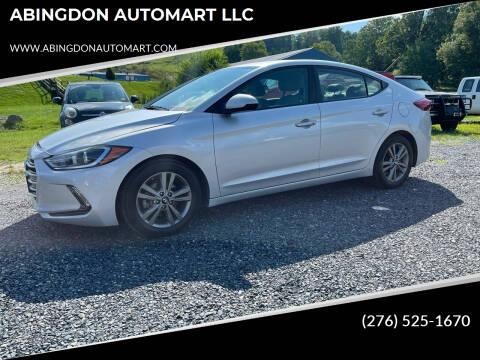 2017 Hyundai Elantra for sale at ABINGDON AUTOMART LLC in Abingdon VA
