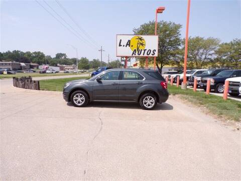 2017 Chevrolet Equinox for sale at L A AUTOS in Omaha NE