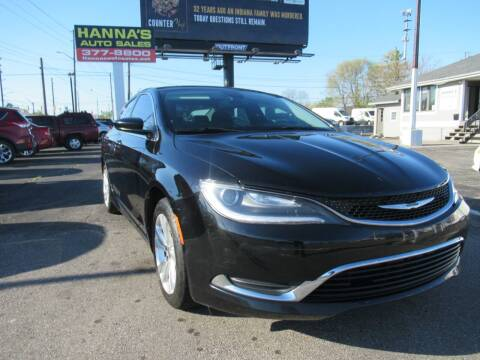 2015 Chrysler 200 for sale at Hanna's Auto Sales in Indianapolis IN