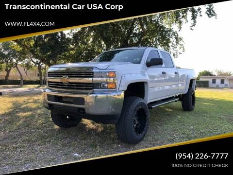 2015 Chevrolet Silverado 2500HD for sale at Transcontinental Car USA Corp in Fort Lauderdale FL