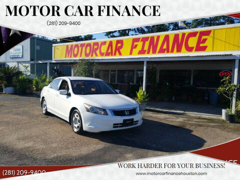 2010 Honda Accord for sale at MOTOR CAR FINANCE in Houston TX