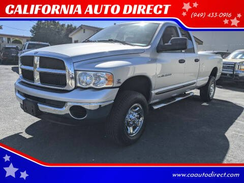 2004 Dodge Ram Pickup 2500 for sale at CALIFORNIA AUTO DIRECT in Costa Mesa CA