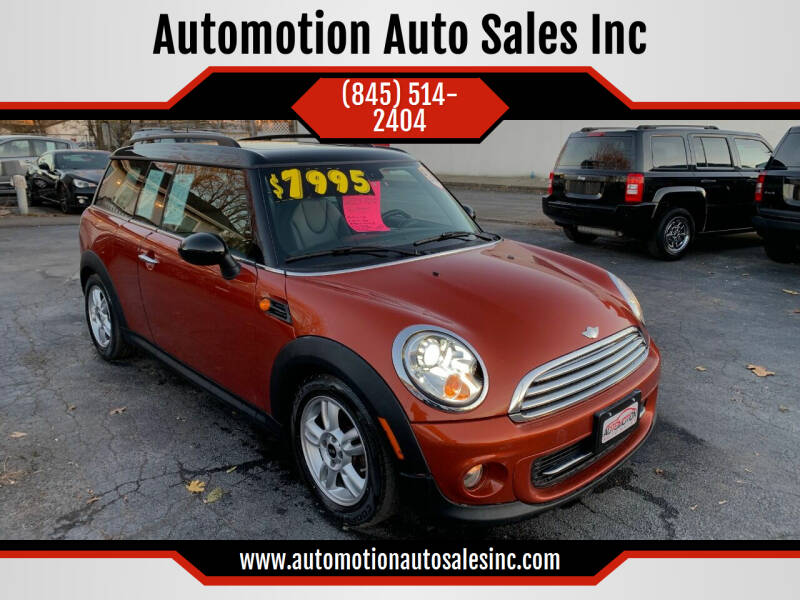 2013 MINI Clubman for sale at Automotion Auto Sales Inc in Kingston NY