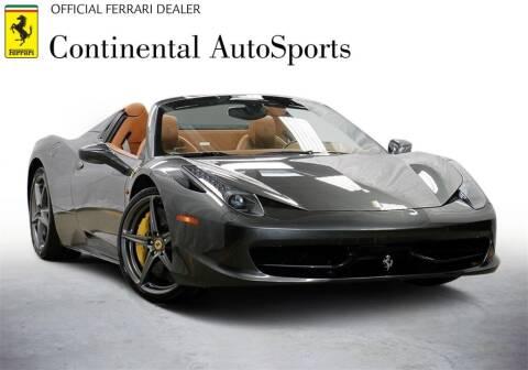 2014 Ferrari 458 Spider for sale at CONTINENTAL AUTO SPORTS in Hinsdale IL