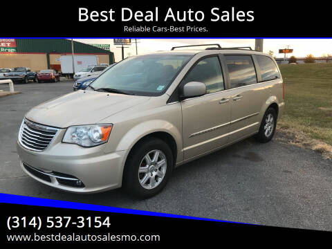 2012 Chrysler Town and Country for sale at Best Deal Auto Sales in Saint Charles MO