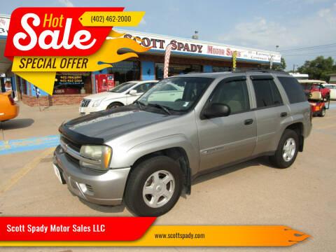 2002 Chevrolet TrailBlazer for sale at Scott Spady Motor Sales LLC in Hastings NE