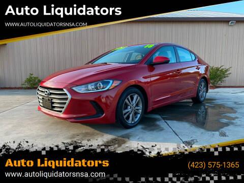 2018 Hyundai Elantra for sale at Auto Liquidators in Bluff City TN