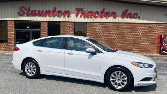 2017 Ford Fusion for sale at STAUNTON TRACTOR INC in Staunton VA