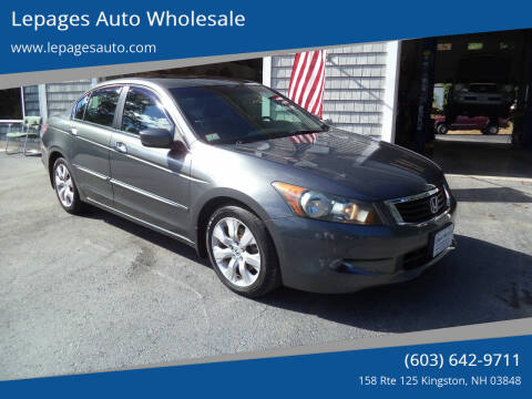 2008 Honda Accord for sale at Lepages Auto Wholesale in Kingston NH