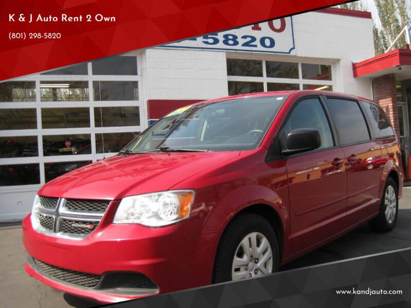 2016 Dodge Grand Caravan for sale at K & J Auto Rent 2 Own in Bountiful UT