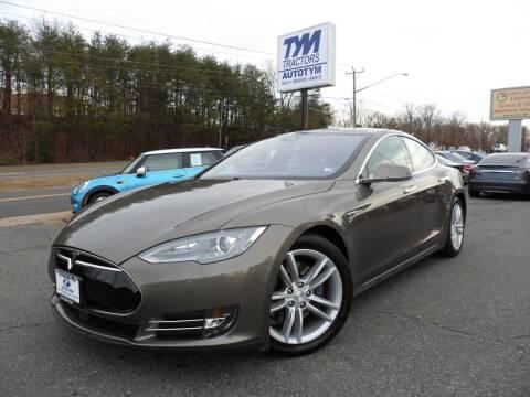 2015 Tesla Model S for sale at AUTOTYM INC in Fredericksburg VA