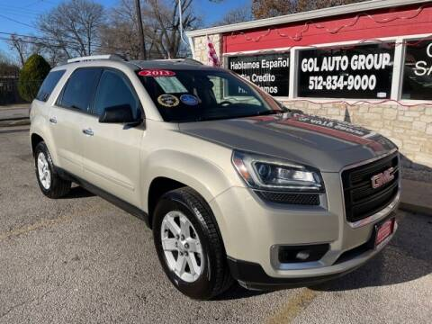 2013 GMC Acadia for sale at GOL Auto Group in Austin TX