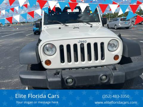 2009 Jeep Wrangler Unlimited for sale at Elite Florida Cars in Tavares FL