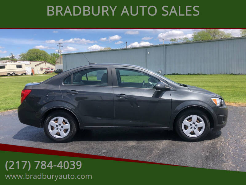 2016 Chevrolet Sonic for sale at BRADBURY AUTO SALES in Gibson City IL